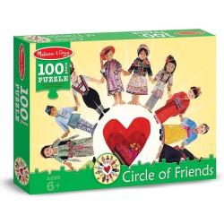 Puzzle Copiii lumii Melissa and Doug 100 piese