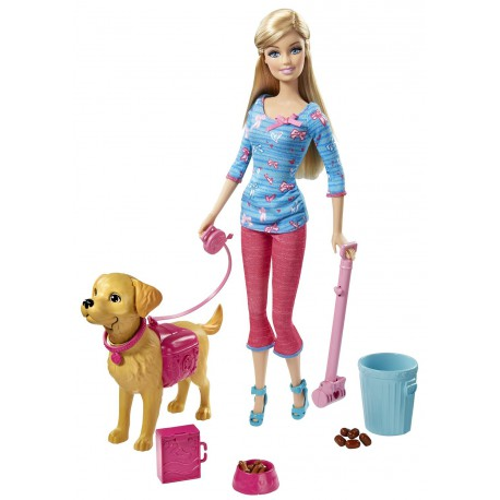Barbie Invata catelul la litiera
