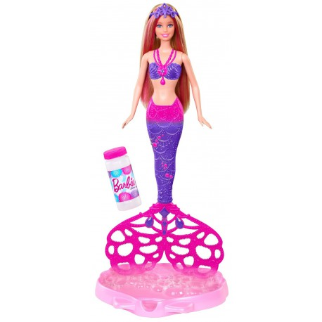 Sirena Barbie cu baloane de sapun