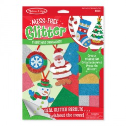 Set creatie cu sclipici Ornamente de Craciun Melissa and Doug